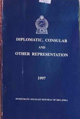 Diplomatic Consular And Other Representatives In Sri Lanka