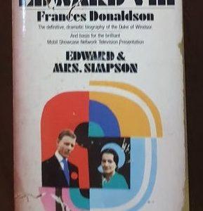 Edward VIII Edward & Mrs. Simpson By Frances Donaldson