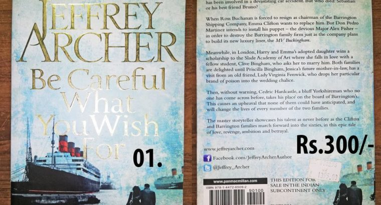 jeffrey archer-be careful what you wish for