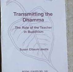 Transmiting the dhamma