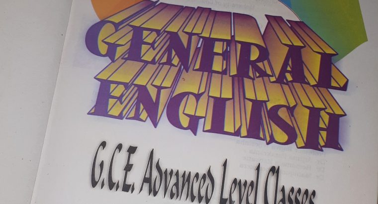 G.C.E. Advanced Level General English- Grammar book