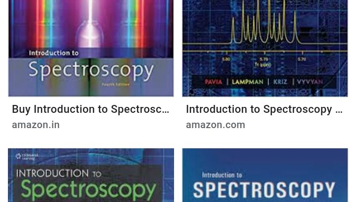 Want thiS book. INTRODUCTION TO SPECTROSCOPY BY PAVIA